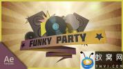 AE模板-复古时尚音乐动画片头 Funky party