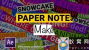 AE模板-纸张便签文字标题动画 Paper Notes Maker – Titles and Lower Thirds