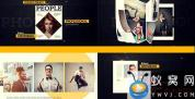 AE模板-时尚杂志翻书图片展示片头 Photobook