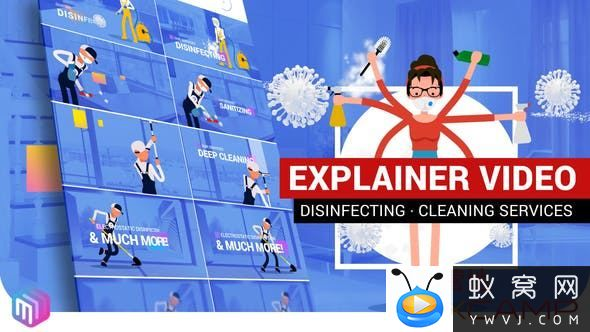 Explainer Video Disinfection Cleaning services 26675100
