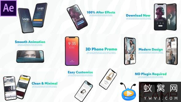 3D Smartphone Presentation for After Effects 26906704