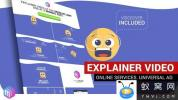AE模板-网络线上服务介绍片头动画 Explainer Video Online Services Bu