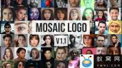 AE模板-照片墙拼贴Logo动画 Mosaic Photos Logo Reveal V1.1