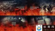 AE模板-火焰历史图片时间线记录片头 Fire History Timeline